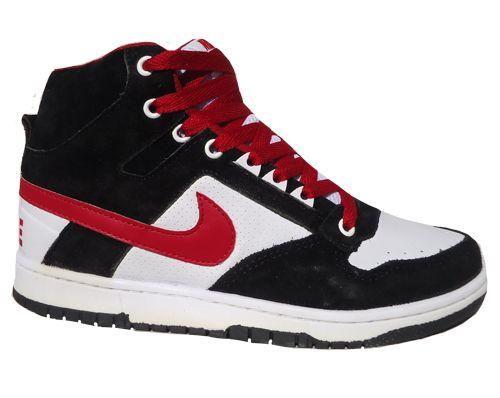 5d6c98d2f74 Tênis Nike SB Dunk Cano Alto Preto Branco e Vermelho MOD  10 - Loja ...